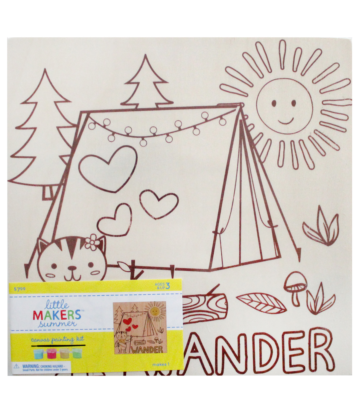 Little Makers Summer Wood Canvas Painting Kit