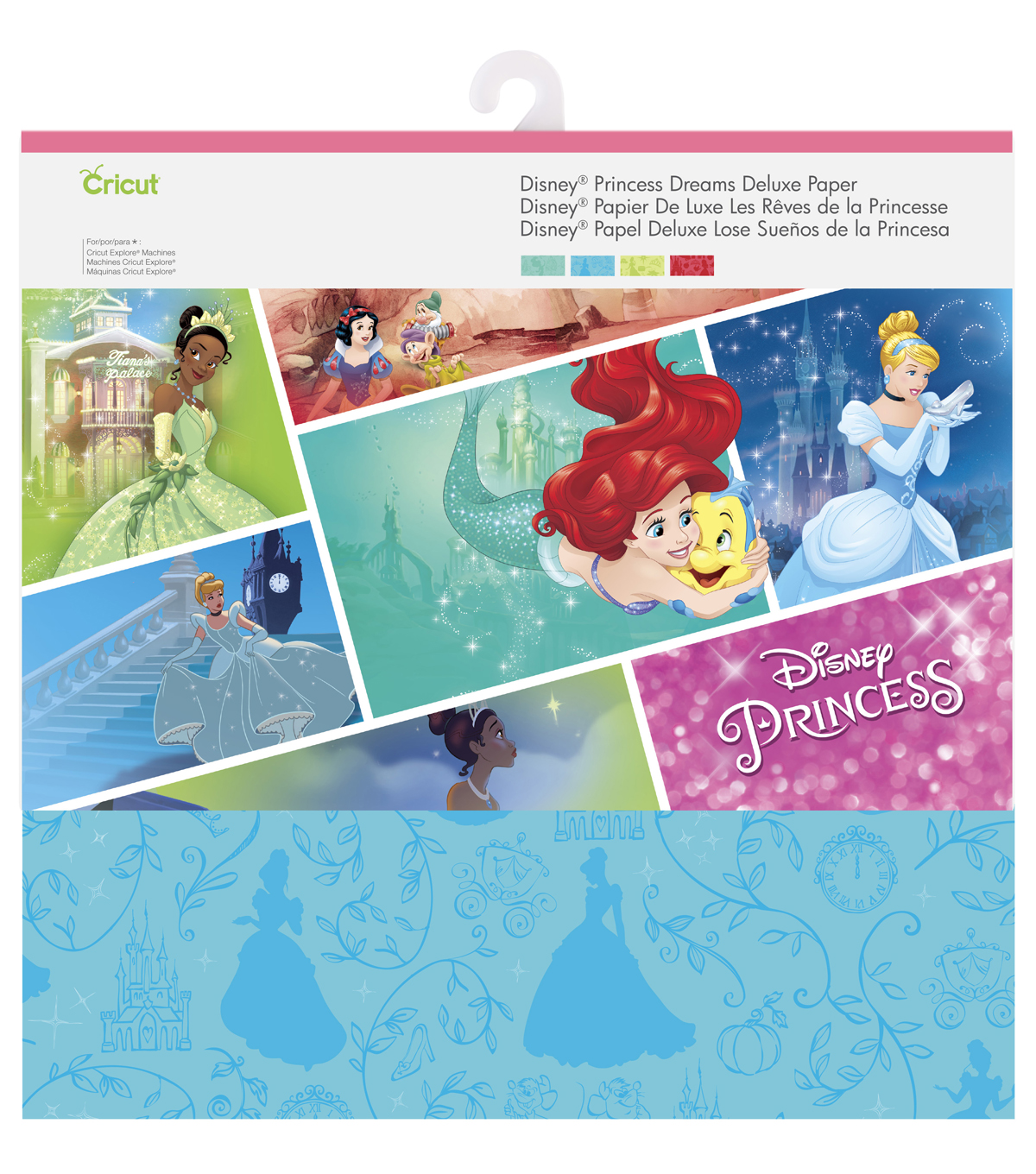 Cricut 12 Pack Disney Princess Dreams Deluxe Papers