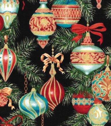 christmas cotton fabric 43u0022 decorative ornaments glitter - Joann Fabrics Christmas Decorations