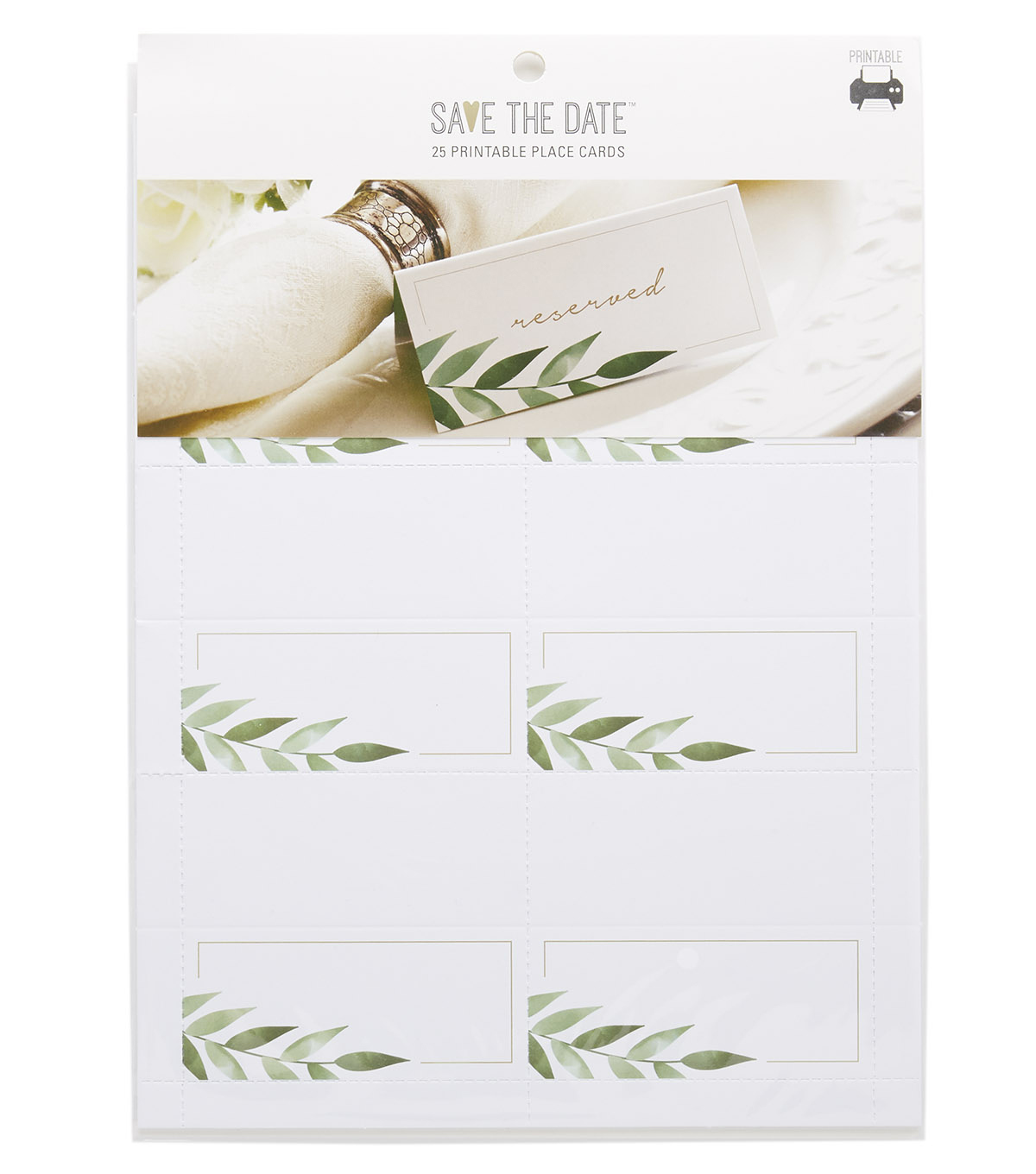 image regarding Printable Place Cards referred to as Help save the Day 25ct Printable Desired destination Playing cards-Greenery