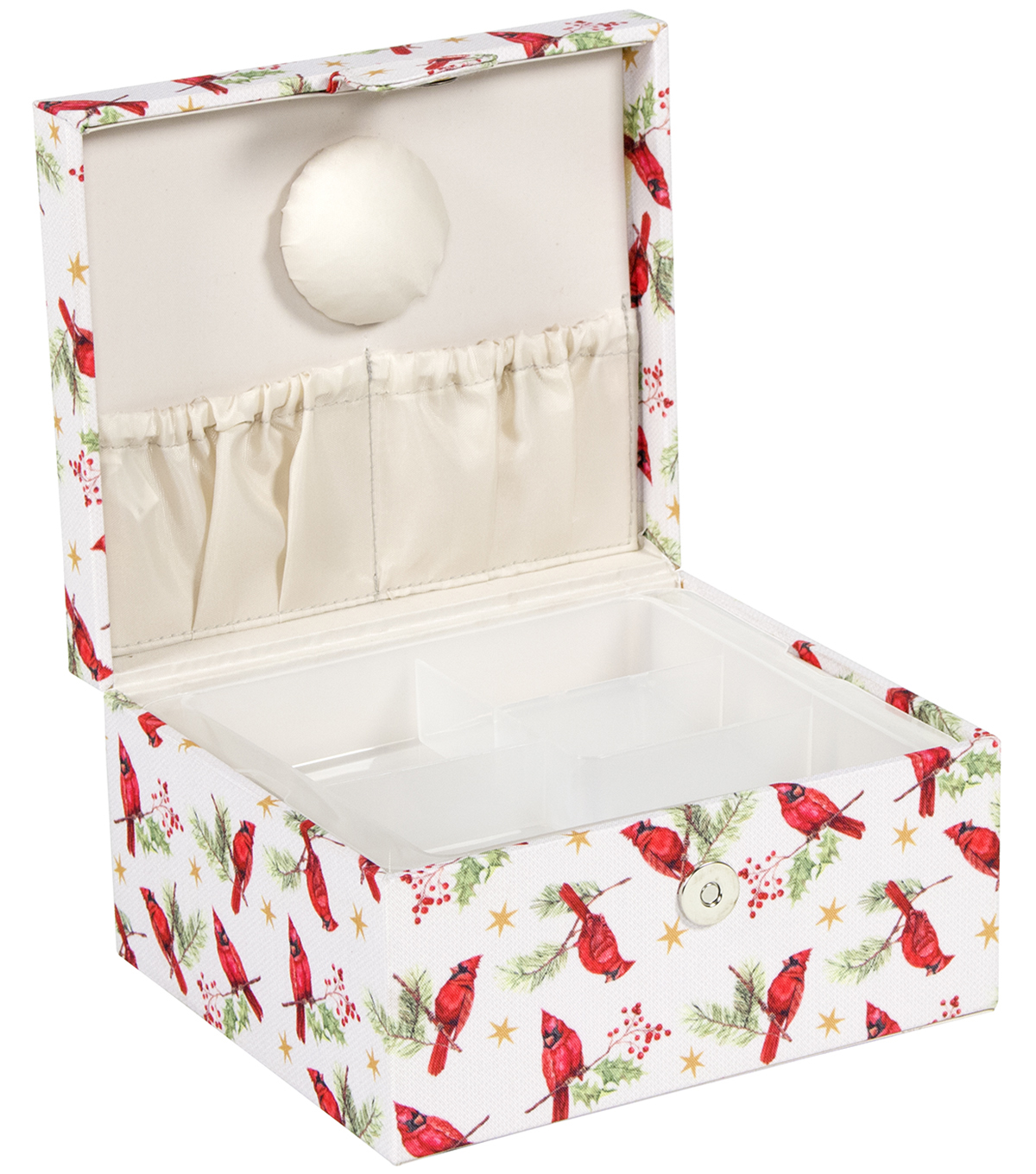 Everything Mary Square Sewing Box-Cardinals