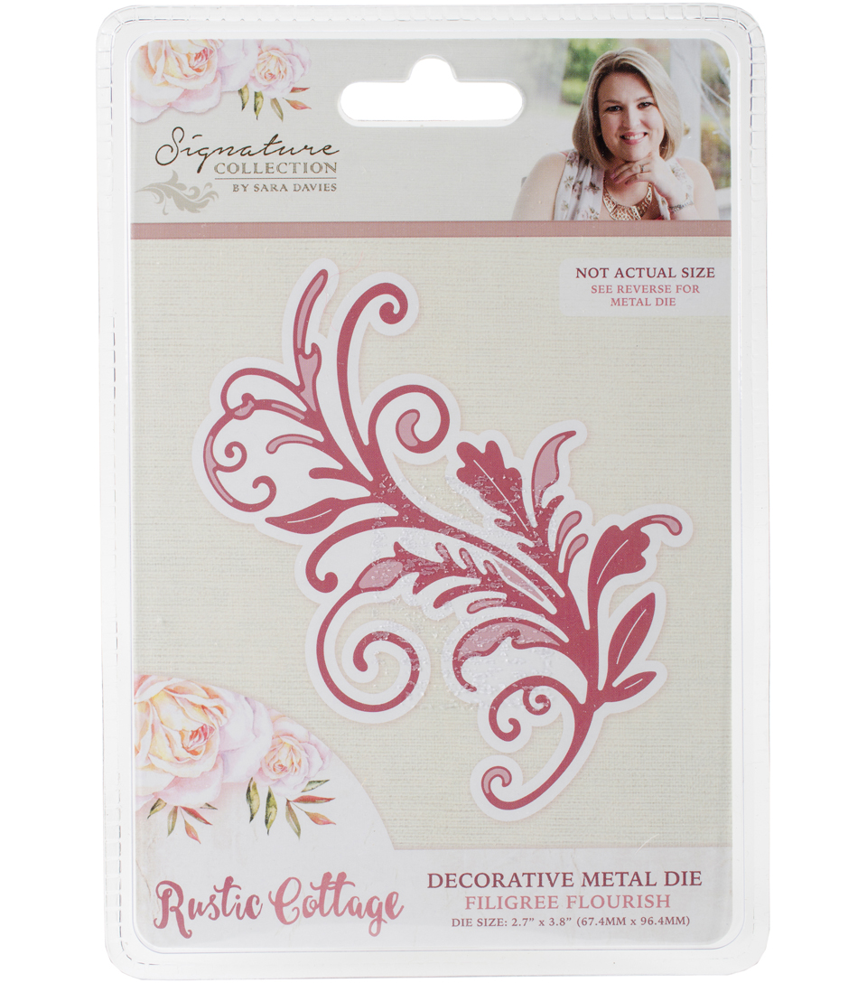 Sara Davies Signature Rustic Cottage Metal Dies-Filigree Flourish
