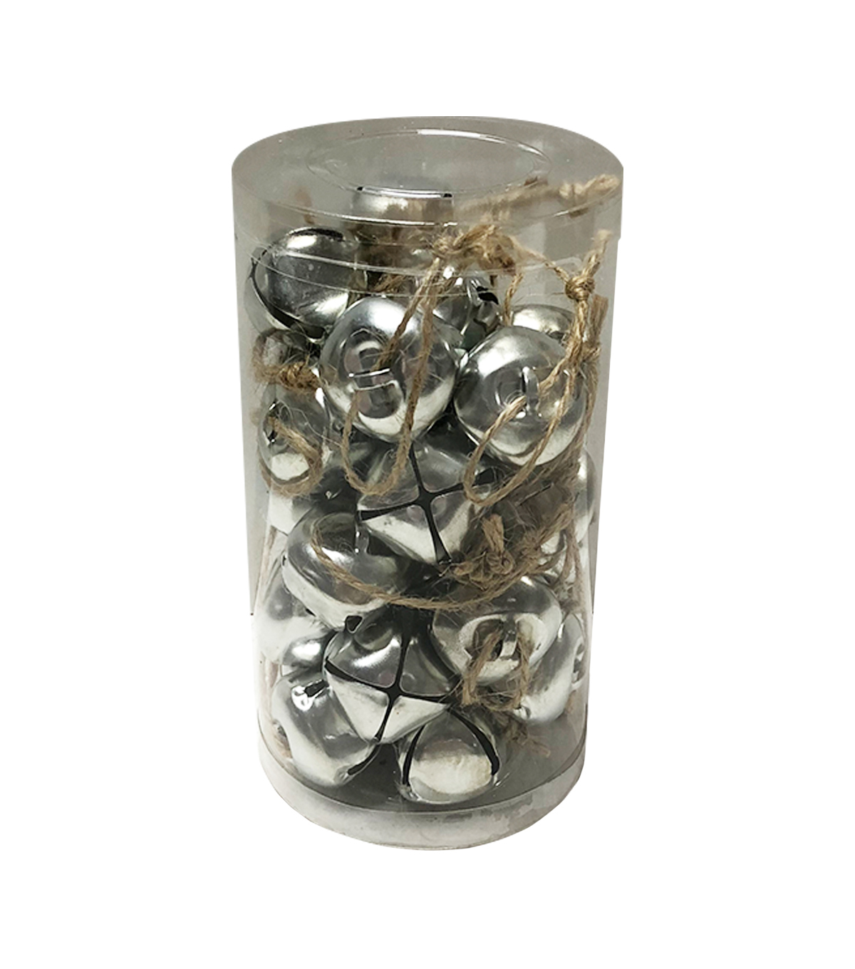 Maker\u0027s Holiday Christmas Buffalo Check 30 pk Galvanized Bells in Box