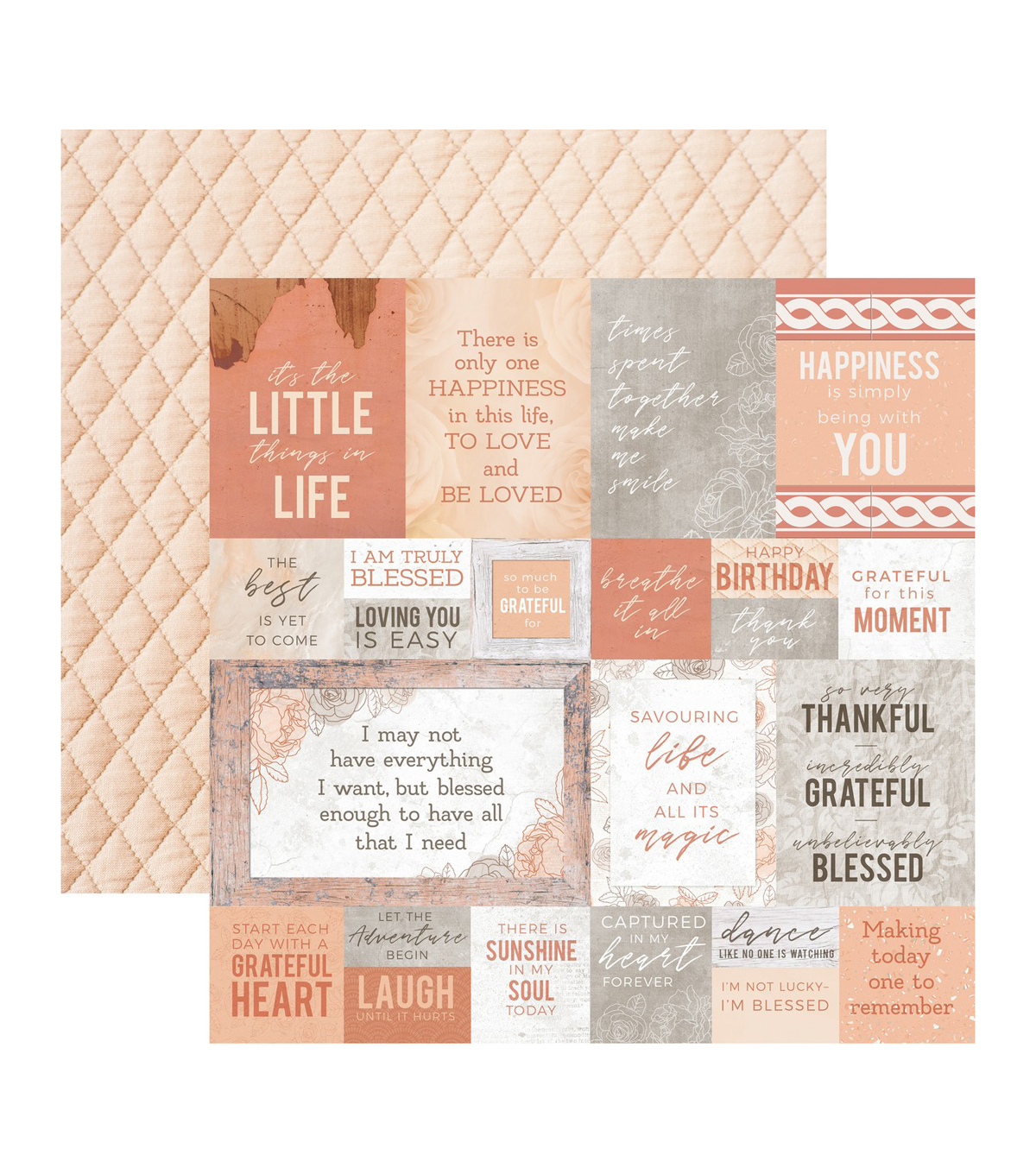 Kaisercraft Peachy 10 pk 12\u0027\u0027x12\u0027\u0027 Double-sided Cardstock-Honey Dew