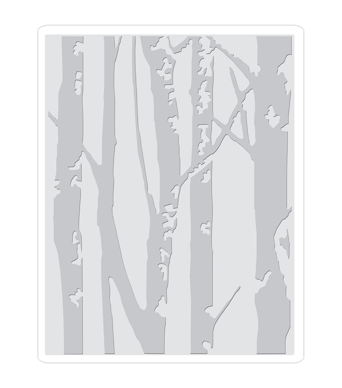 Sizzix Texture Fades A2 Embossing Folder-Birch Trees