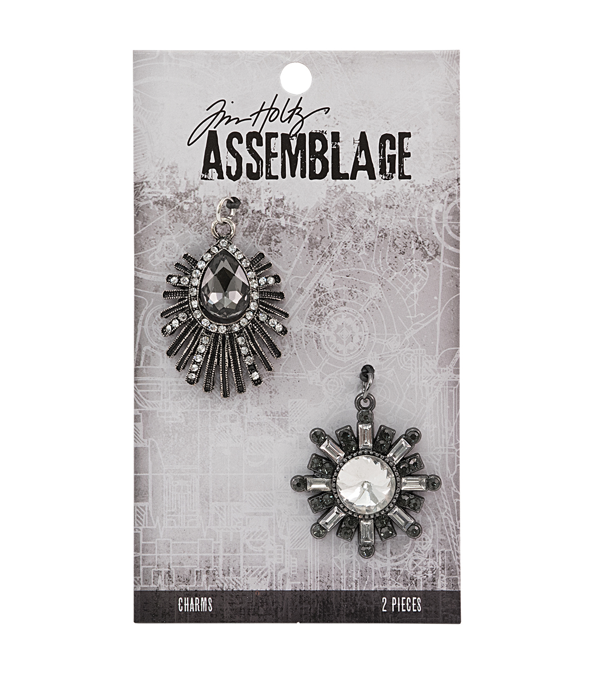 Tim Holtz Assemblage 2 Pack Deco Finery Charms