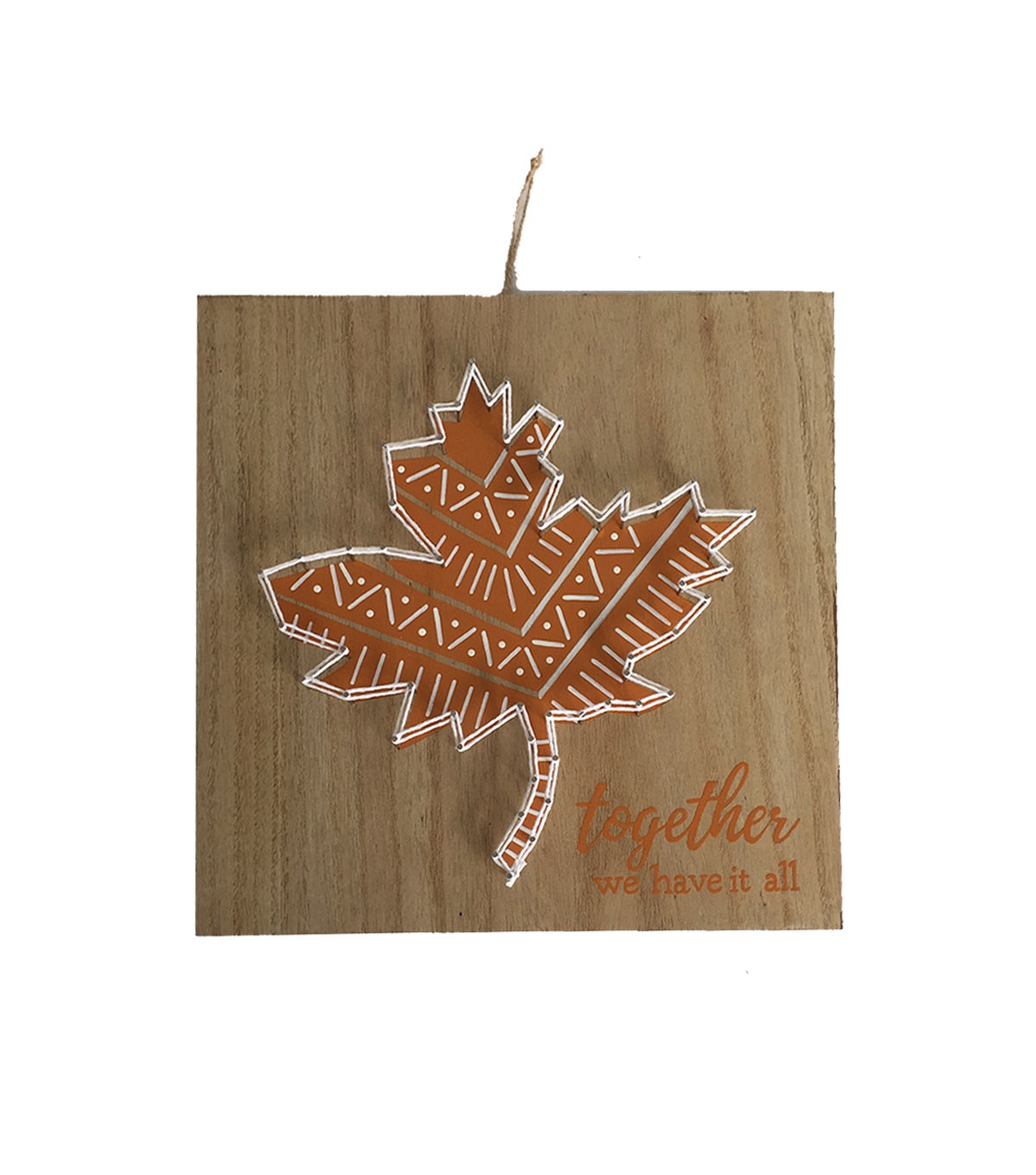 simply autumn string art wall decor leaf together we have it all