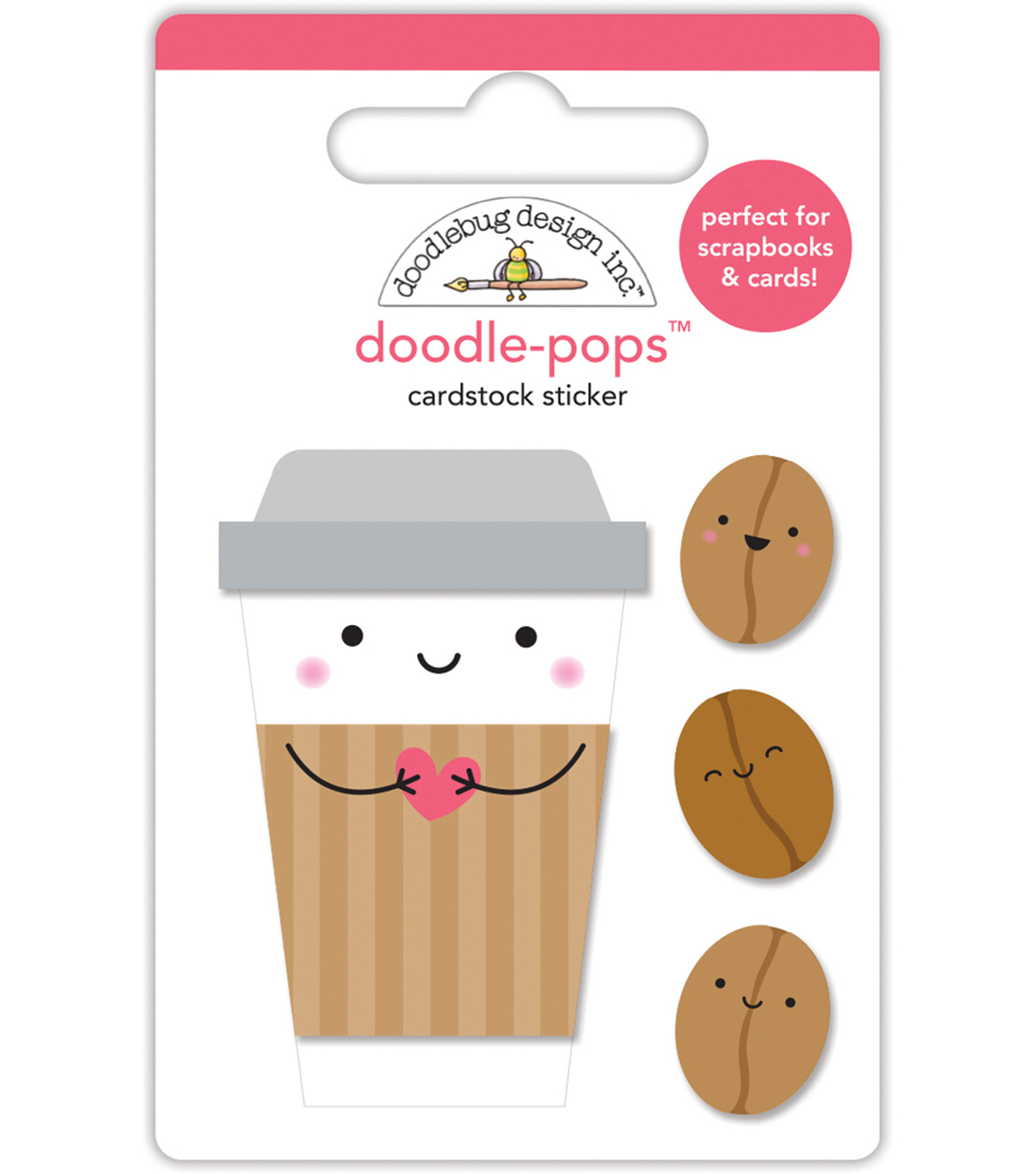 Doodlebug Doodle-Pops 3D Stickers -Cream & Sugar Coffee Mates