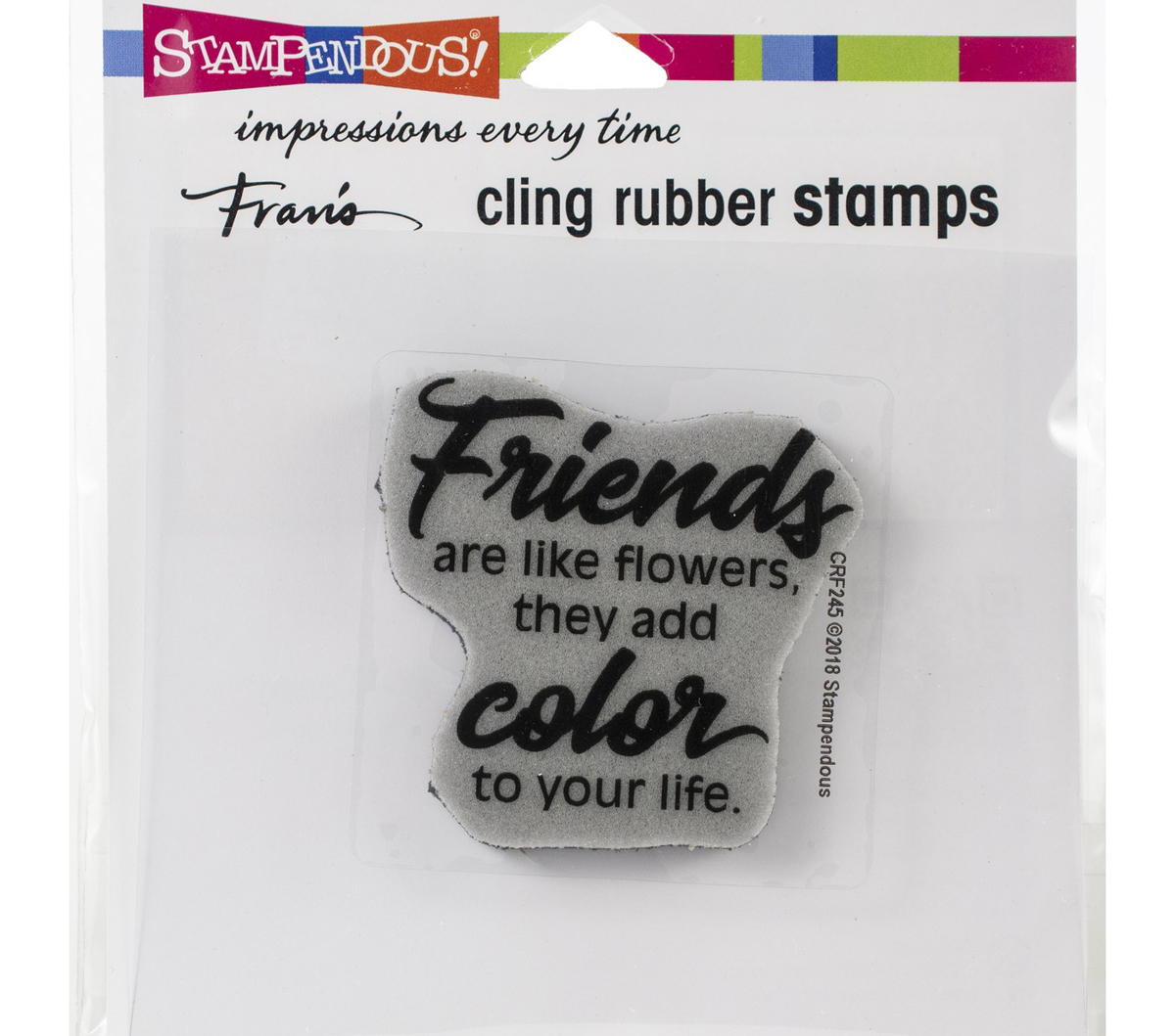 Stampendous Cling Stamp-Friends Add Color