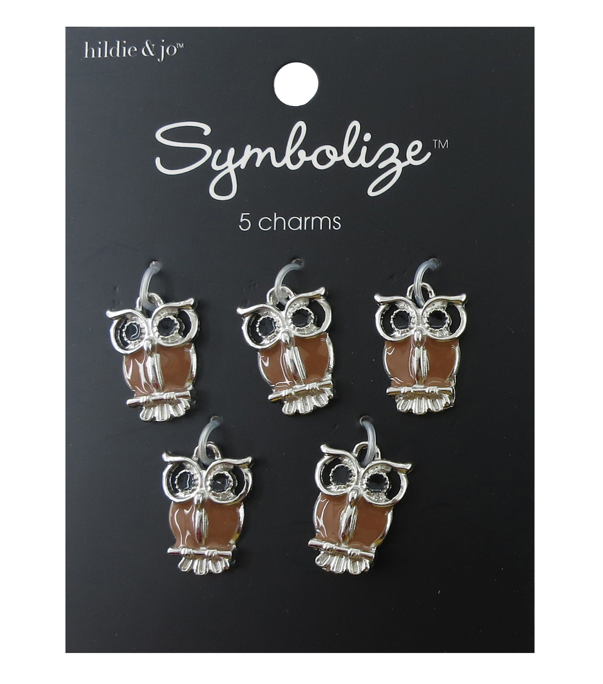hildie & jo Symbolize 5 Pack Owl Silver Charms