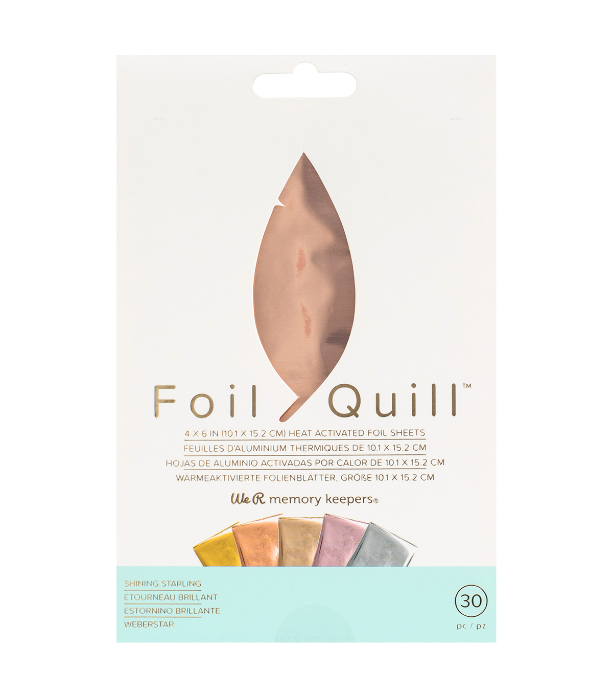We R Memory Keepers Foil Quill 4\u0027\u0027x6\u0027\u0027 Foil Sheets-Shining Starling