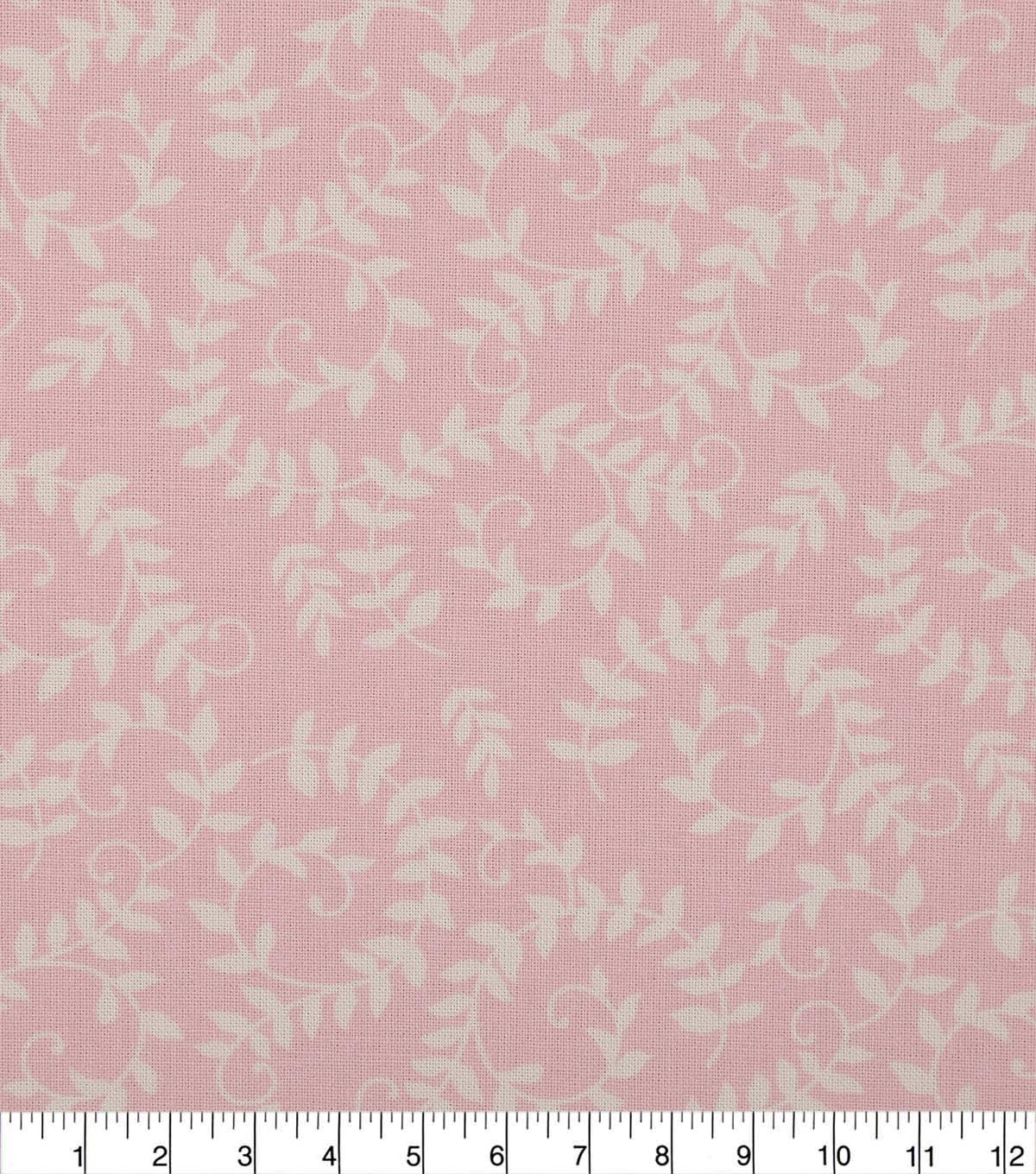 Wide Quilt Cotton Backing Fabric 108\u0022-Orchid Pink Scroll