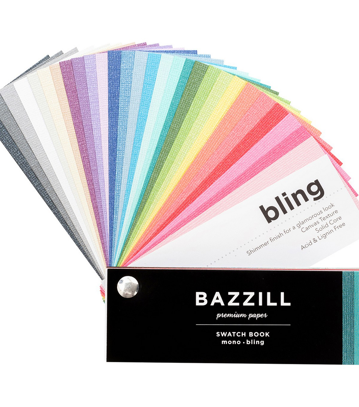 Bazzill 2018 Cardstock Swatchbook-Mono & Bling
