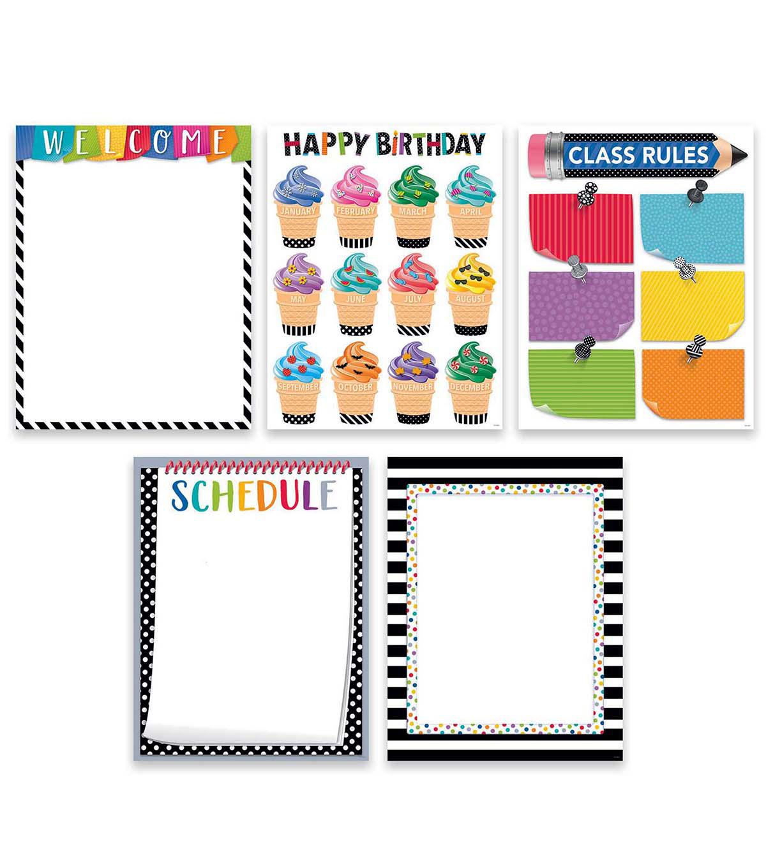 Creative Teaching Press Bold Bright Classroom Essentials 5 Chart Pack