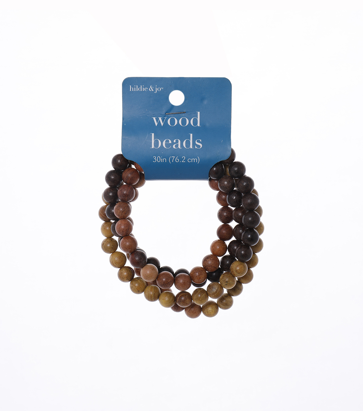 Darice Jewelry Designer String Beads-Wood (30\u0022)