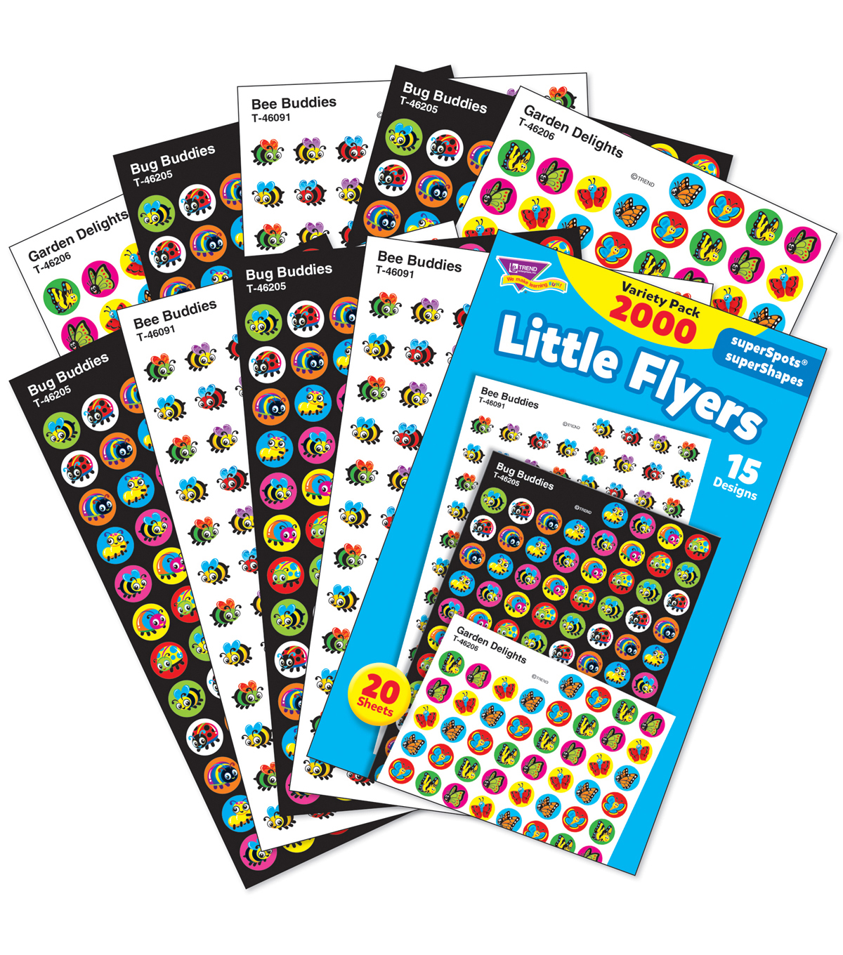 Little Flyers Stickers Variety 2000 Per Pack, 3 Packs