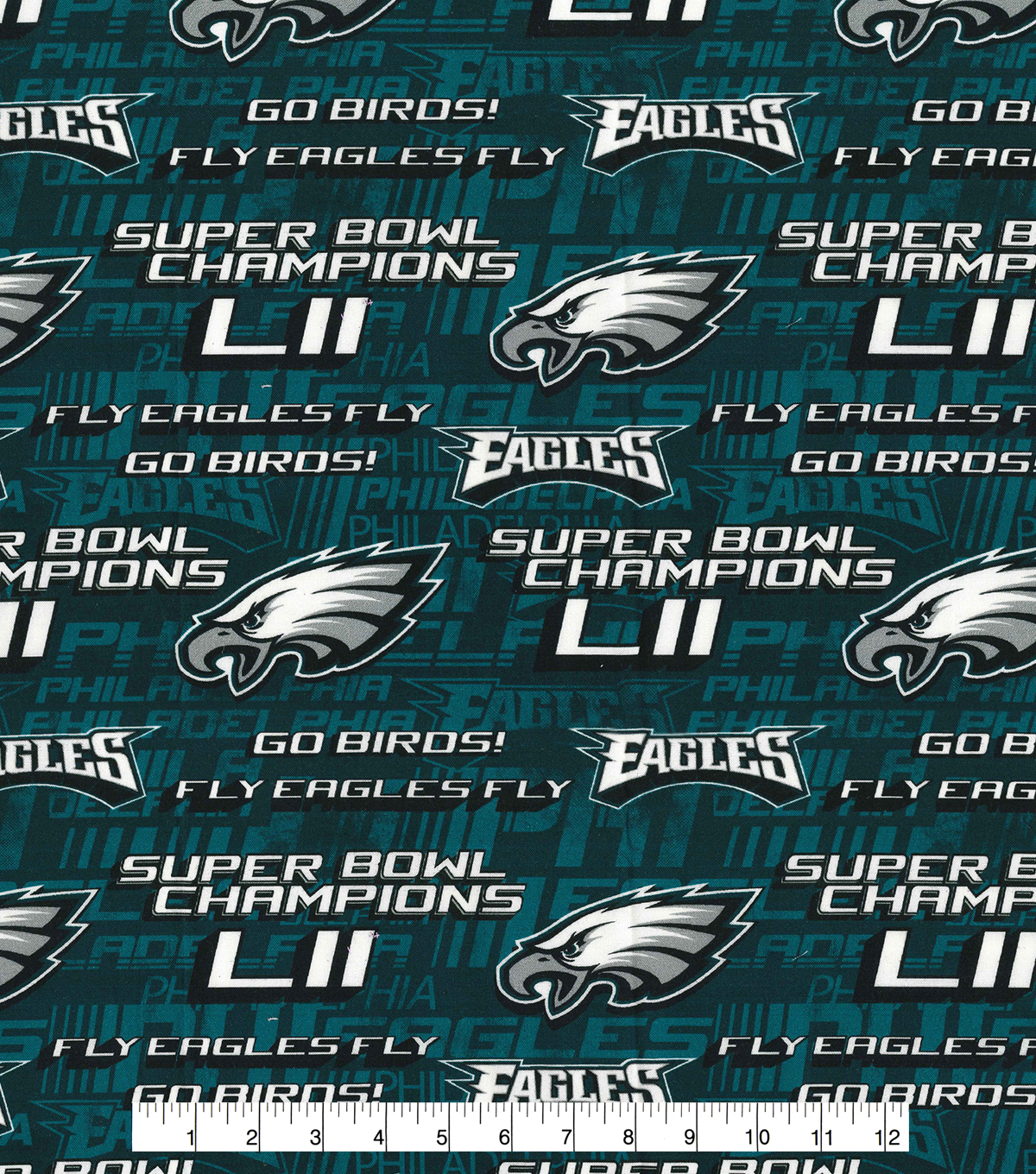 Philadelphia Eagles Cotton Fabric -Fly Eagles Fly