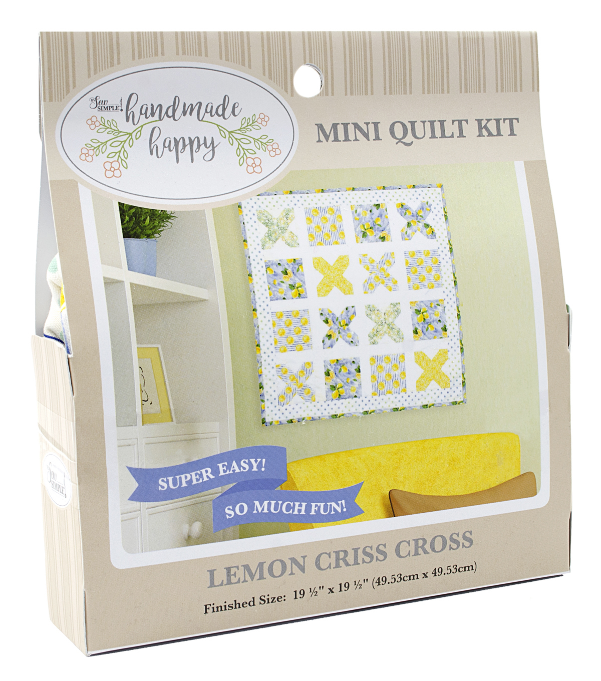 Sew Simple Handmade Happy Mini Quilt Kit-Lemons