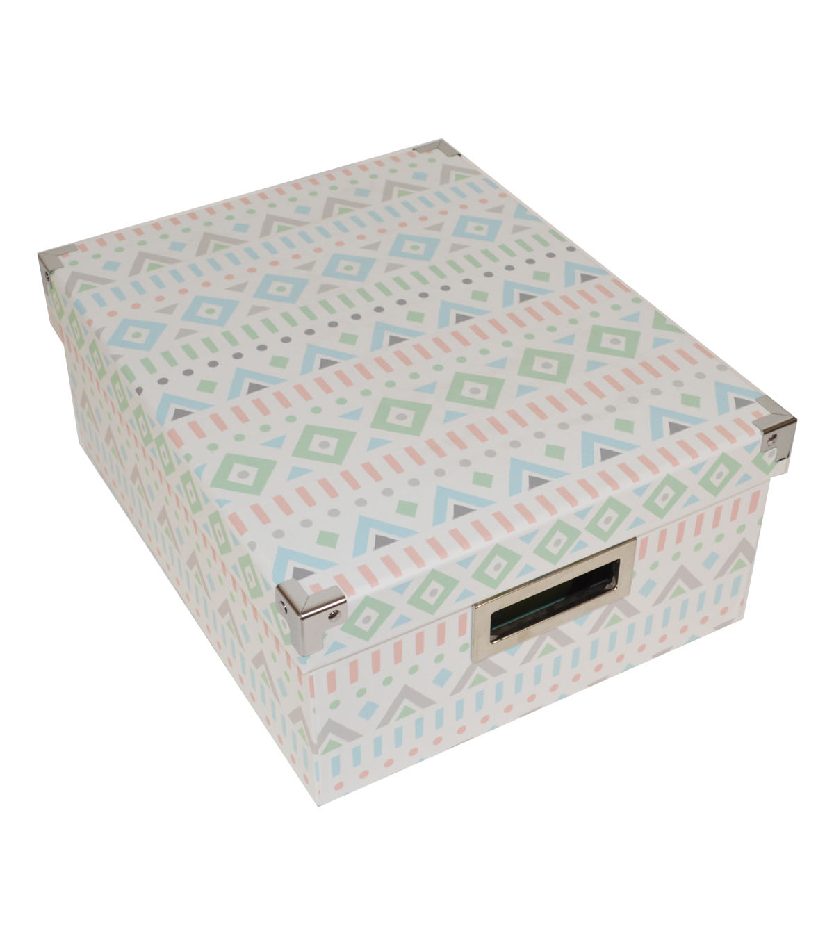 Organizing Essentials Medium Storage Box-Triangle & Line Pattern