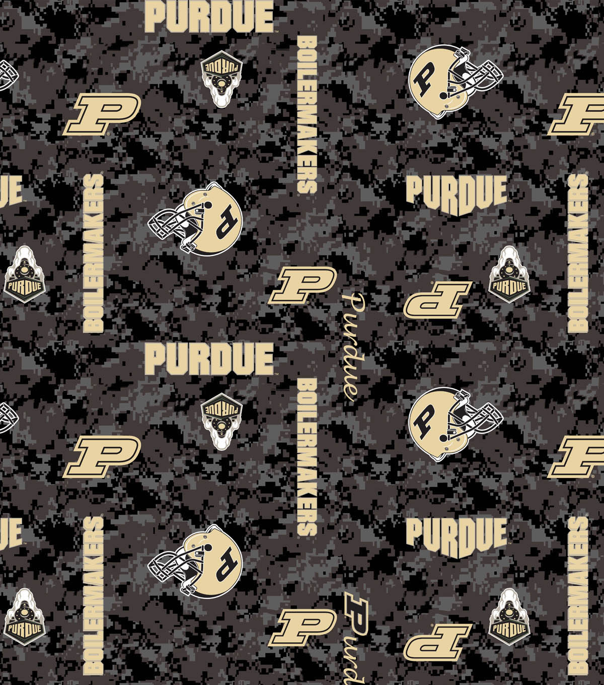 Purdue University Boilermakers Fleece Fabric 43\u0022-Digital