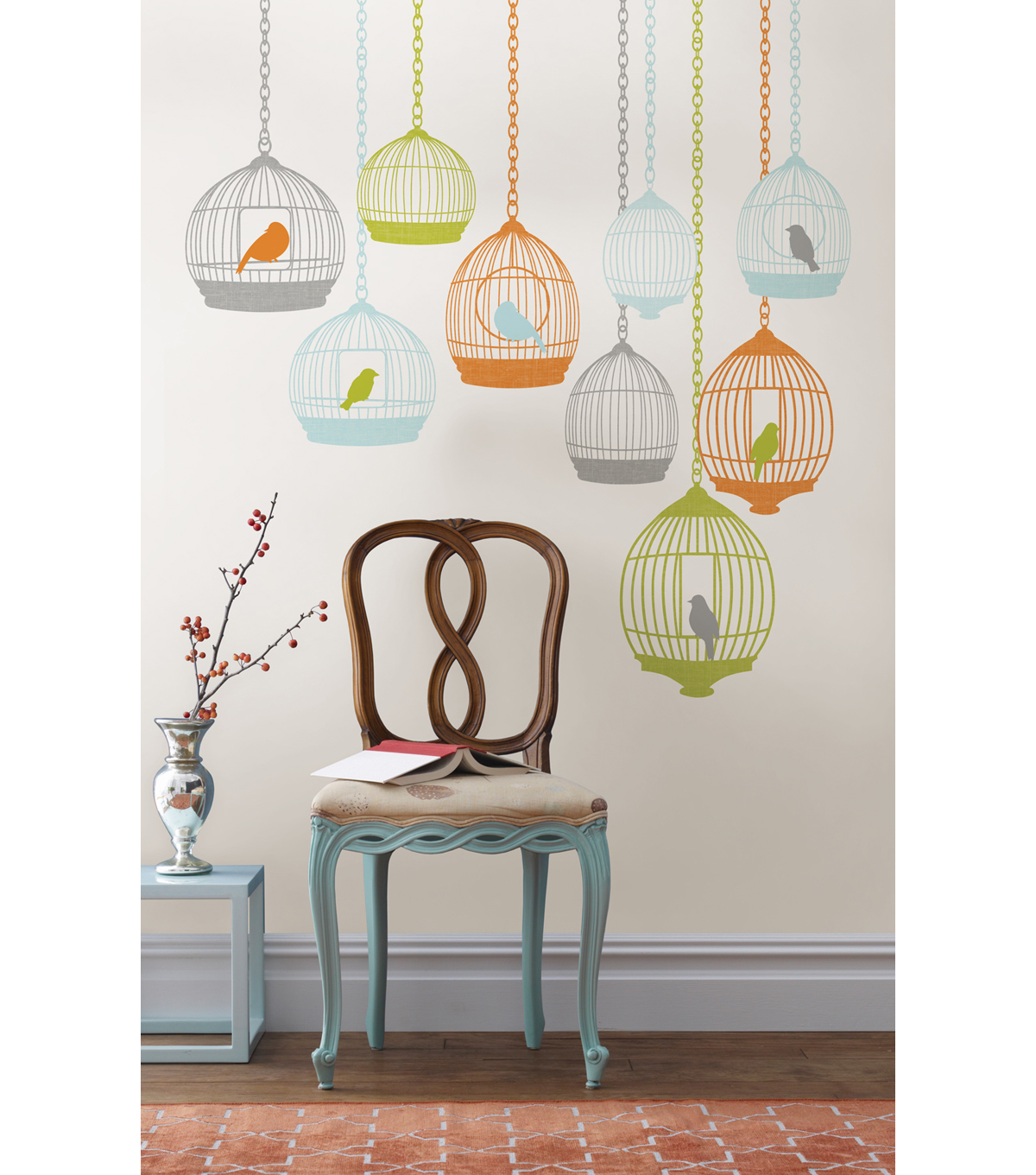 Wall Pops St Tropez Wall Art Decal Kit, 25 Piece Set
