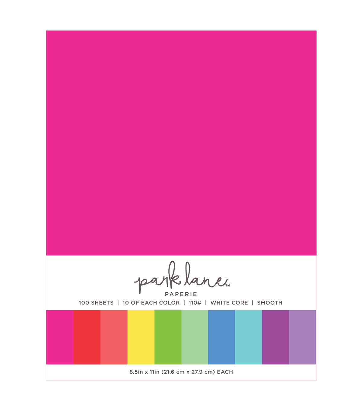 Park Lane 100 pk 8.5\u0027\u0027x11\u0027\u0027 Value Papers-Brights