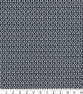Quilter\u0027s Showcase Cotton Fabric-Triangles Navy