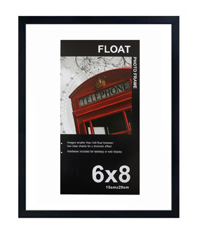 Wood Float Frame 6x8-Black