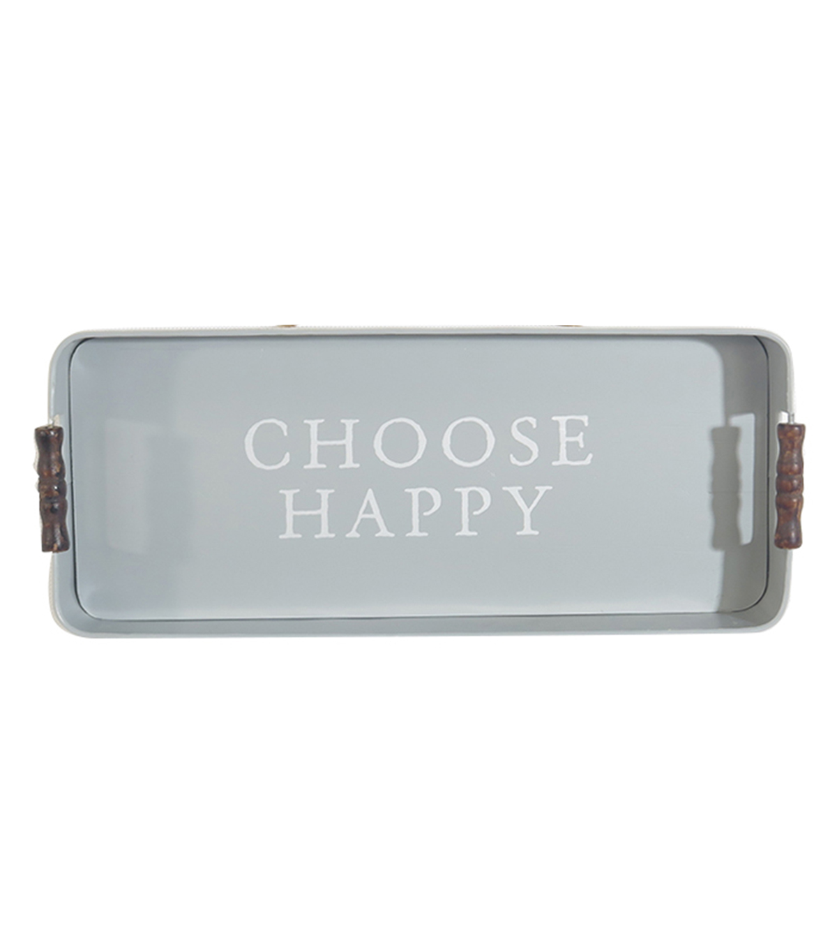 Simply Spring Galvanized Tray-Choose Happy