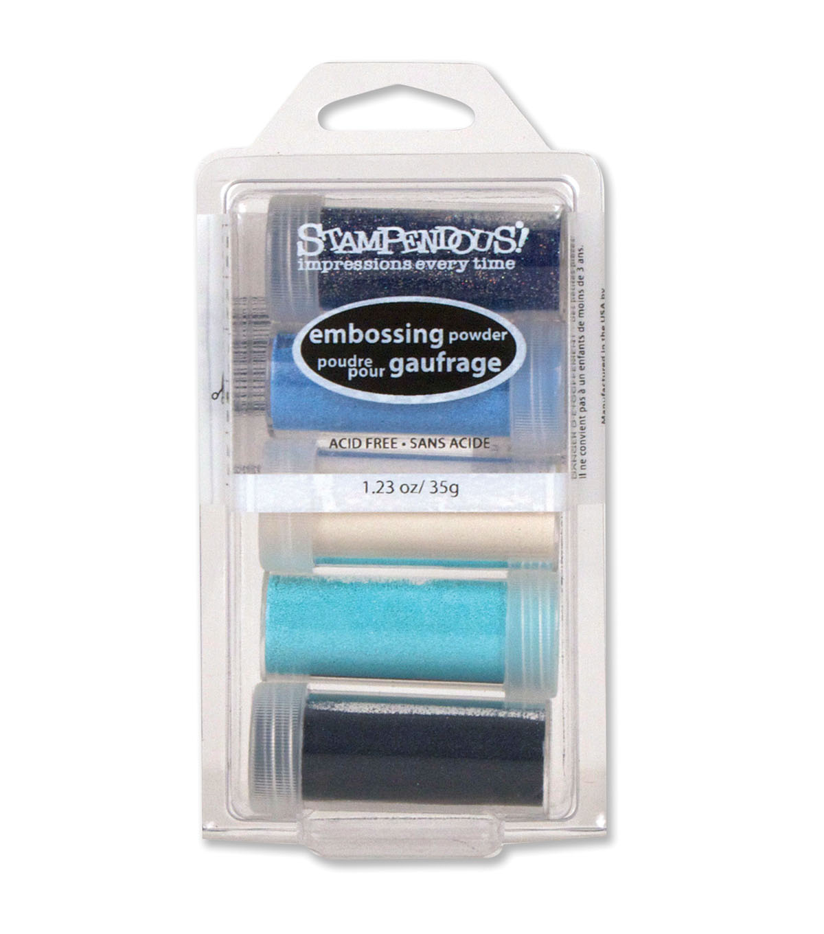 Stampendous 5 Pack Embossing Powder-Submerge