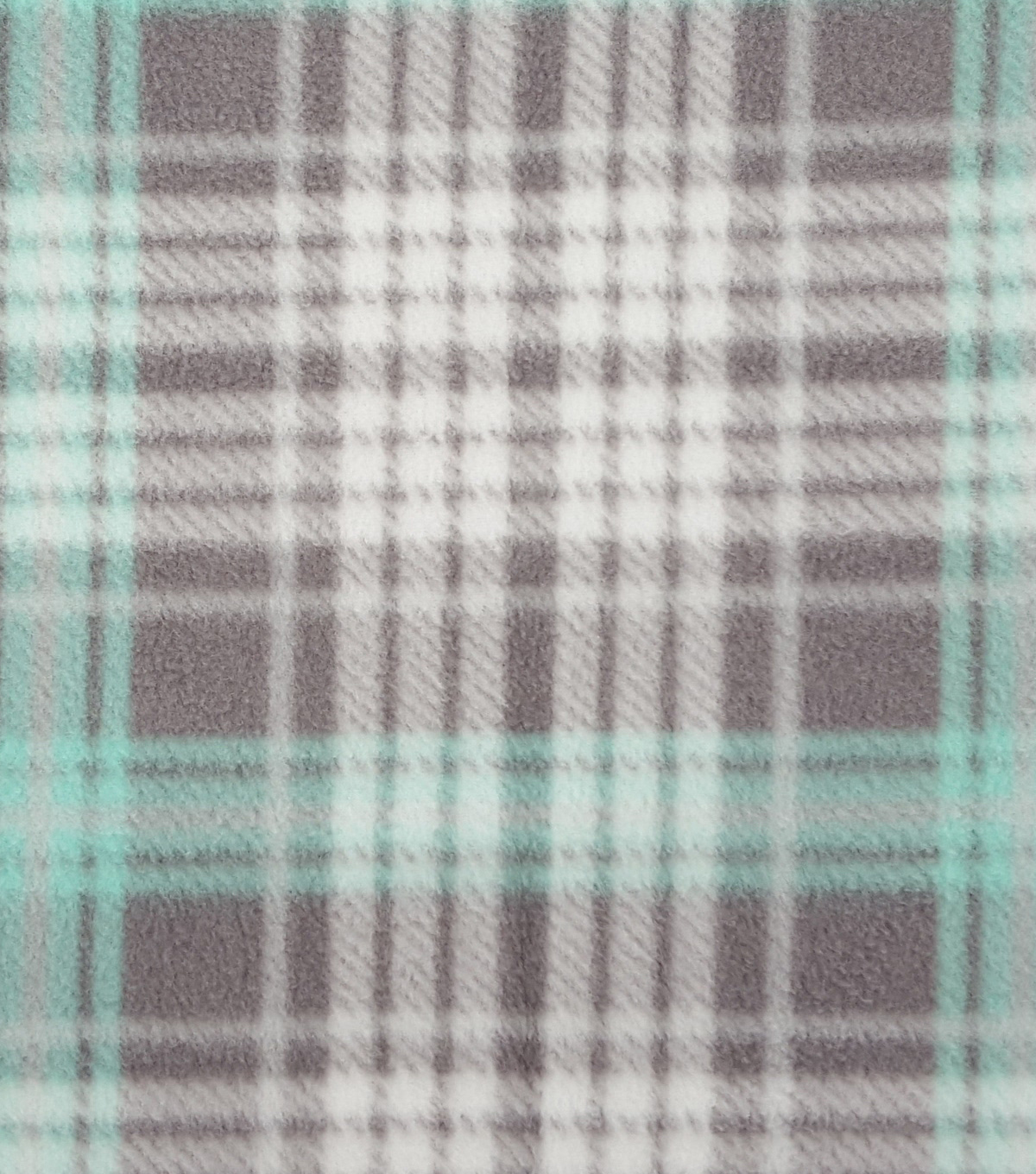 Anti-Pill Fleece Fabric 59\u0022-Mint Plaid