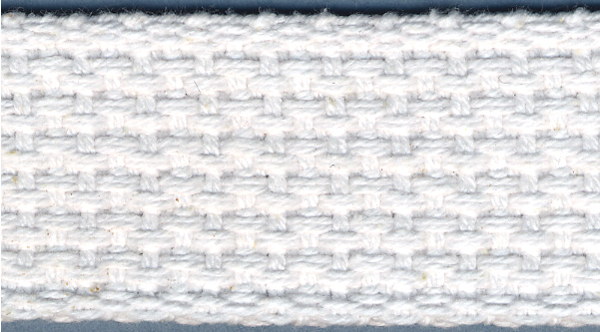 Cotton Belting 1\u0022 Wide 10 Yards-White