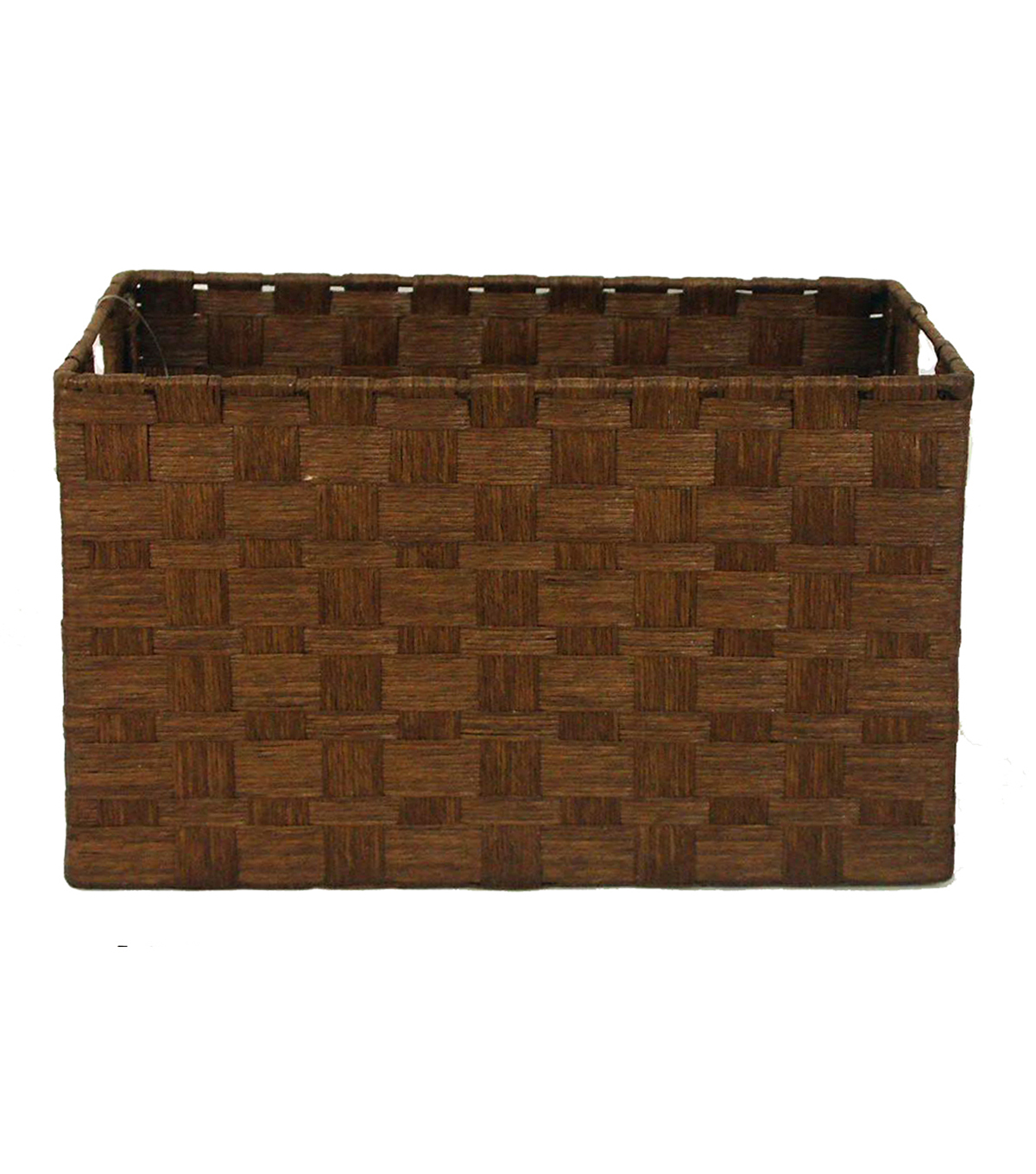 Merveilleux Organizing Essentials Paper Rope Cube Basket Brown