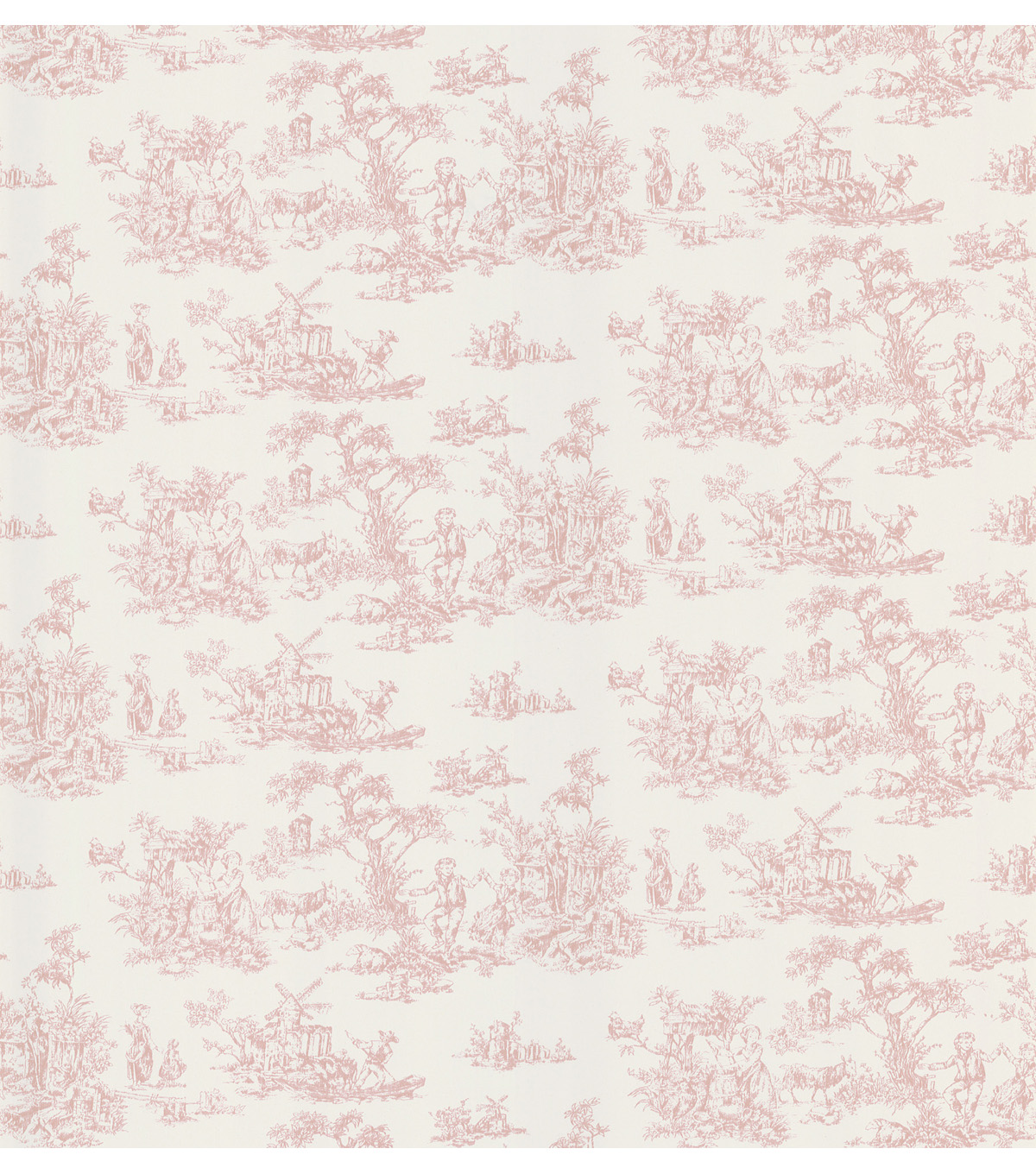 Maxine Pink Toile Wallpaper