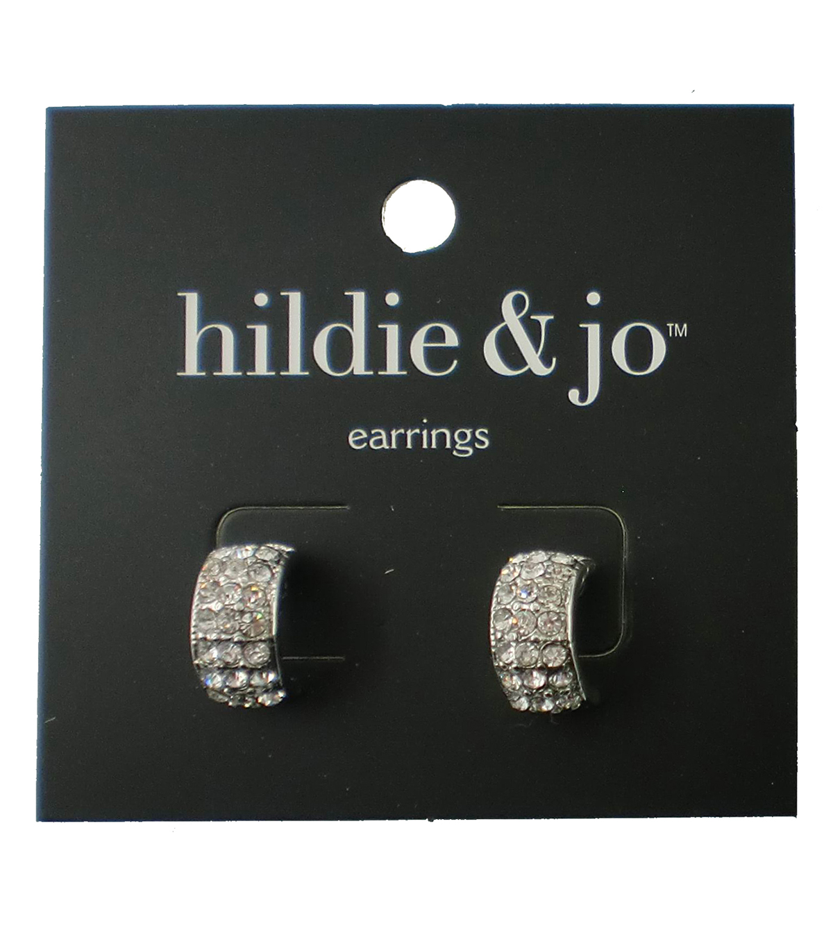 hildie & jo Silver Earrings-Clear Crystals