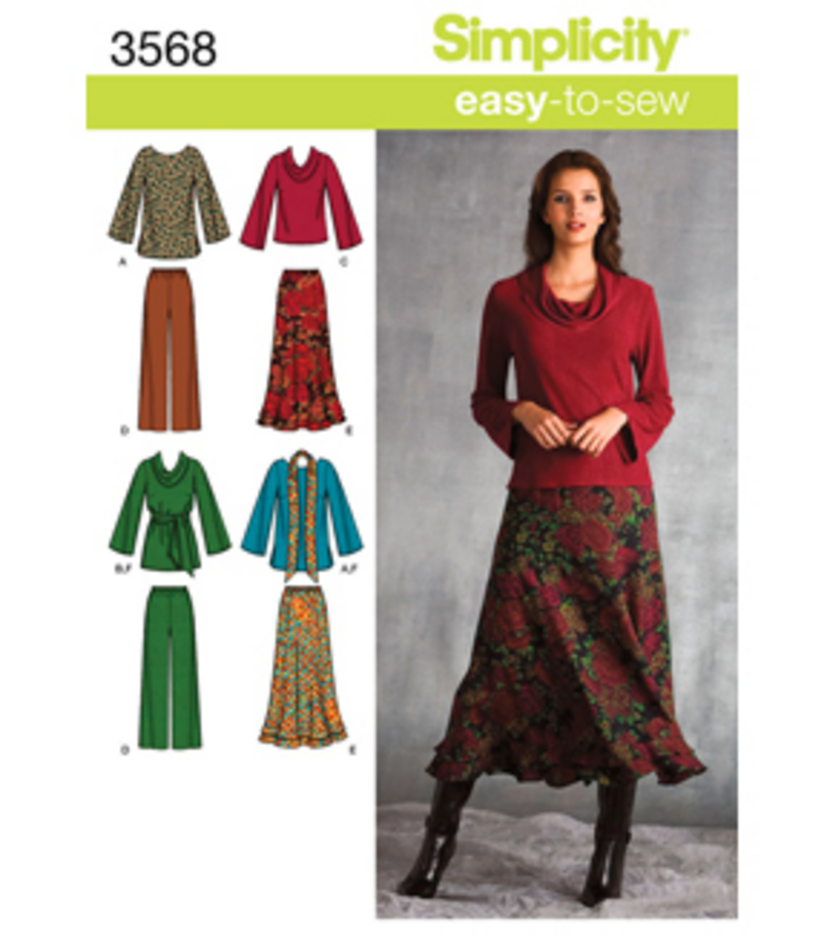 Simplicity Pattern 3568AA 10 12 14 1-Simplicity Misses