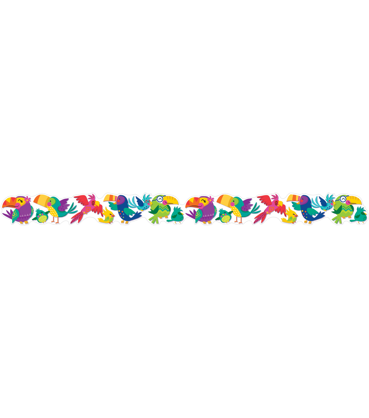 Eureka School Extra Wide Deco Trim-Toucan Birds