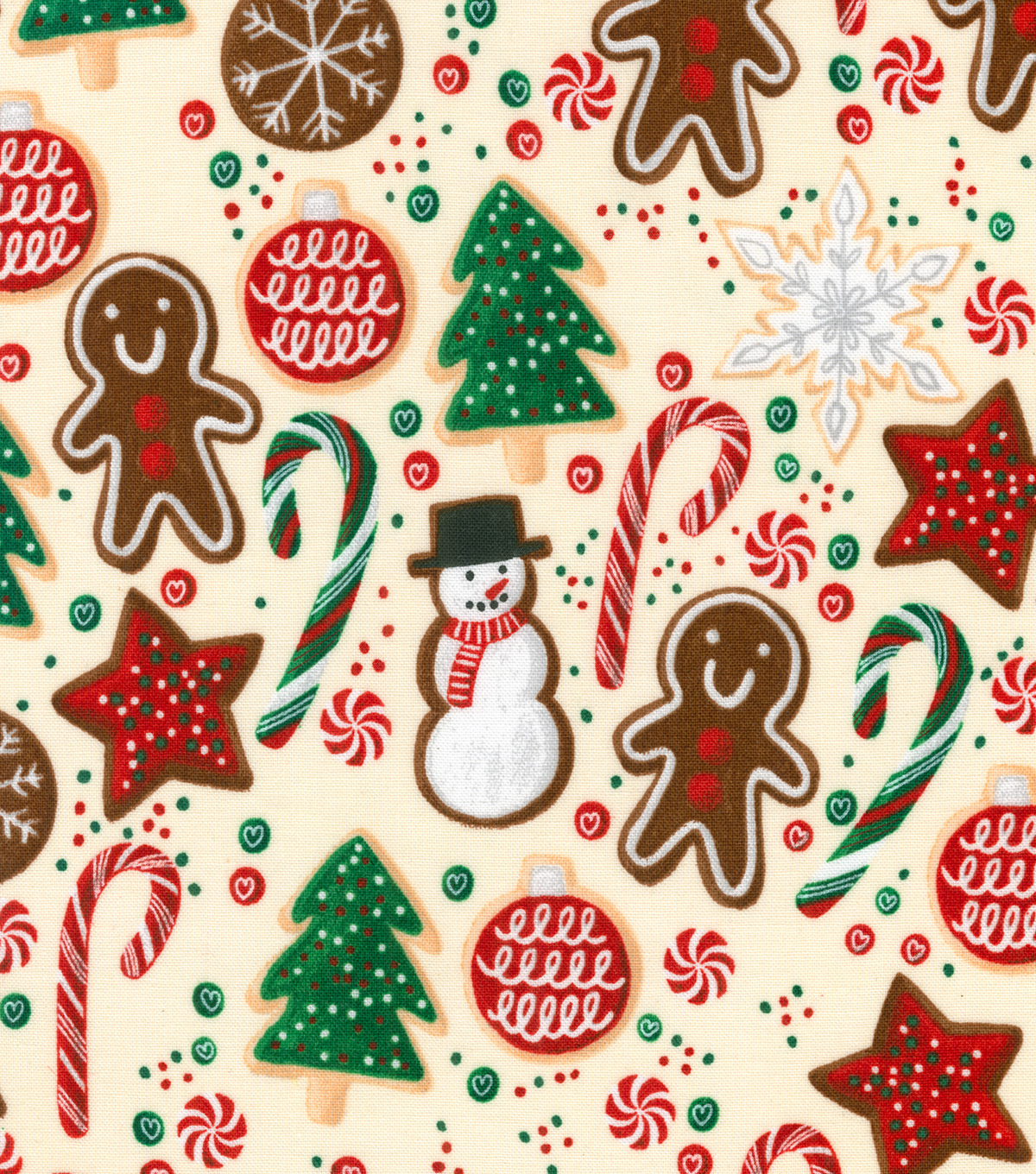 Christmas Cotton Fabric-Cookies Party