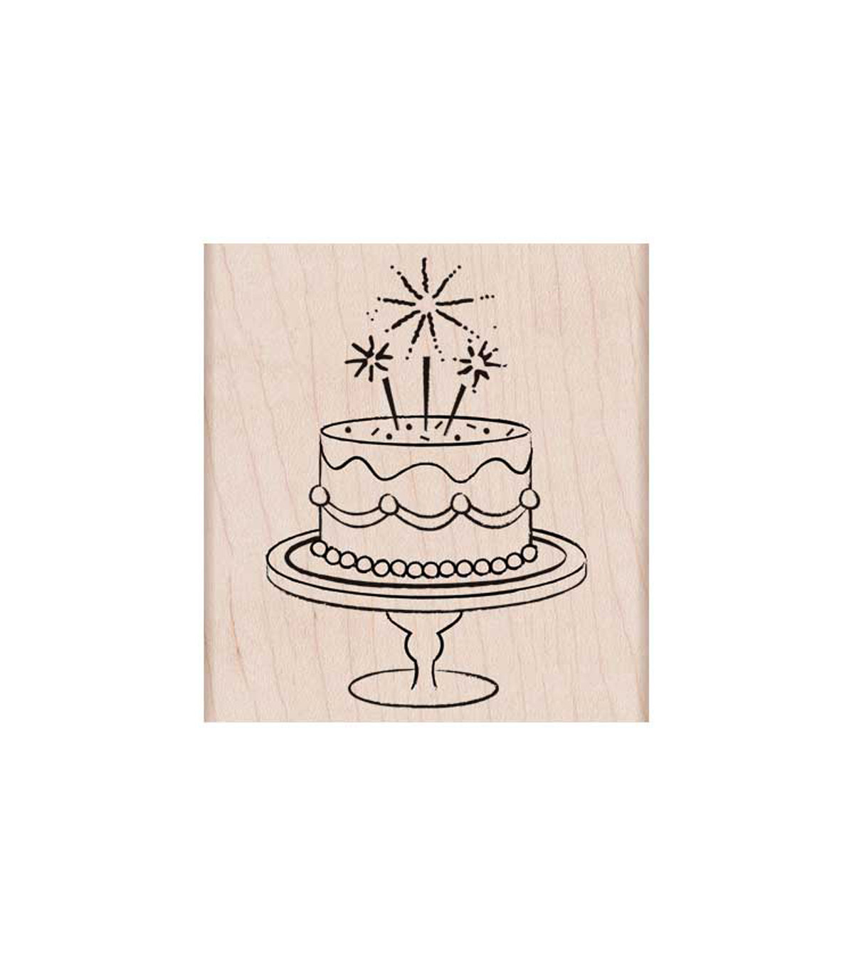 Hero Arts Mounted Rubber Stamp-Fancy Birthday Cake