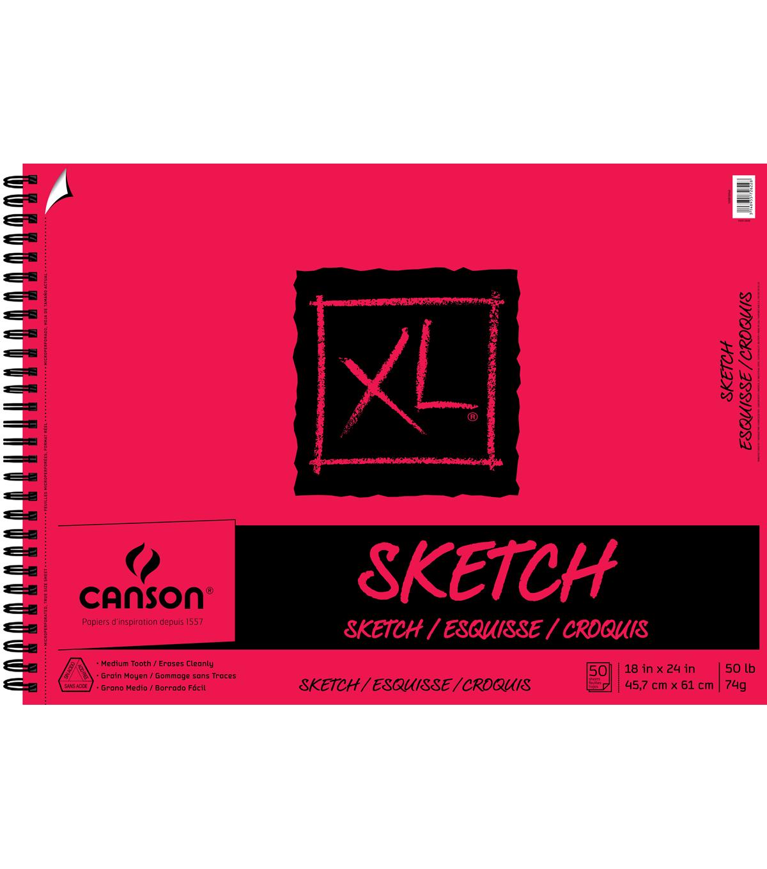 Canson Xl 18x24 50 Sheets Spiral Sketch Pad Joann