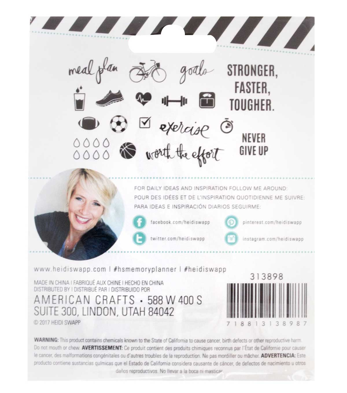 Heidi Swapp Fresh Start Clear Stamps-Exercise