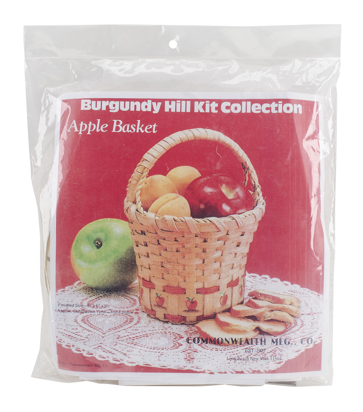 Commonwealth Basket Burgundy Hill Basket Kits Wall