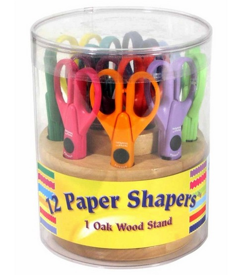 Paper Shapers With Oak Stand 12/Set-New Designs
