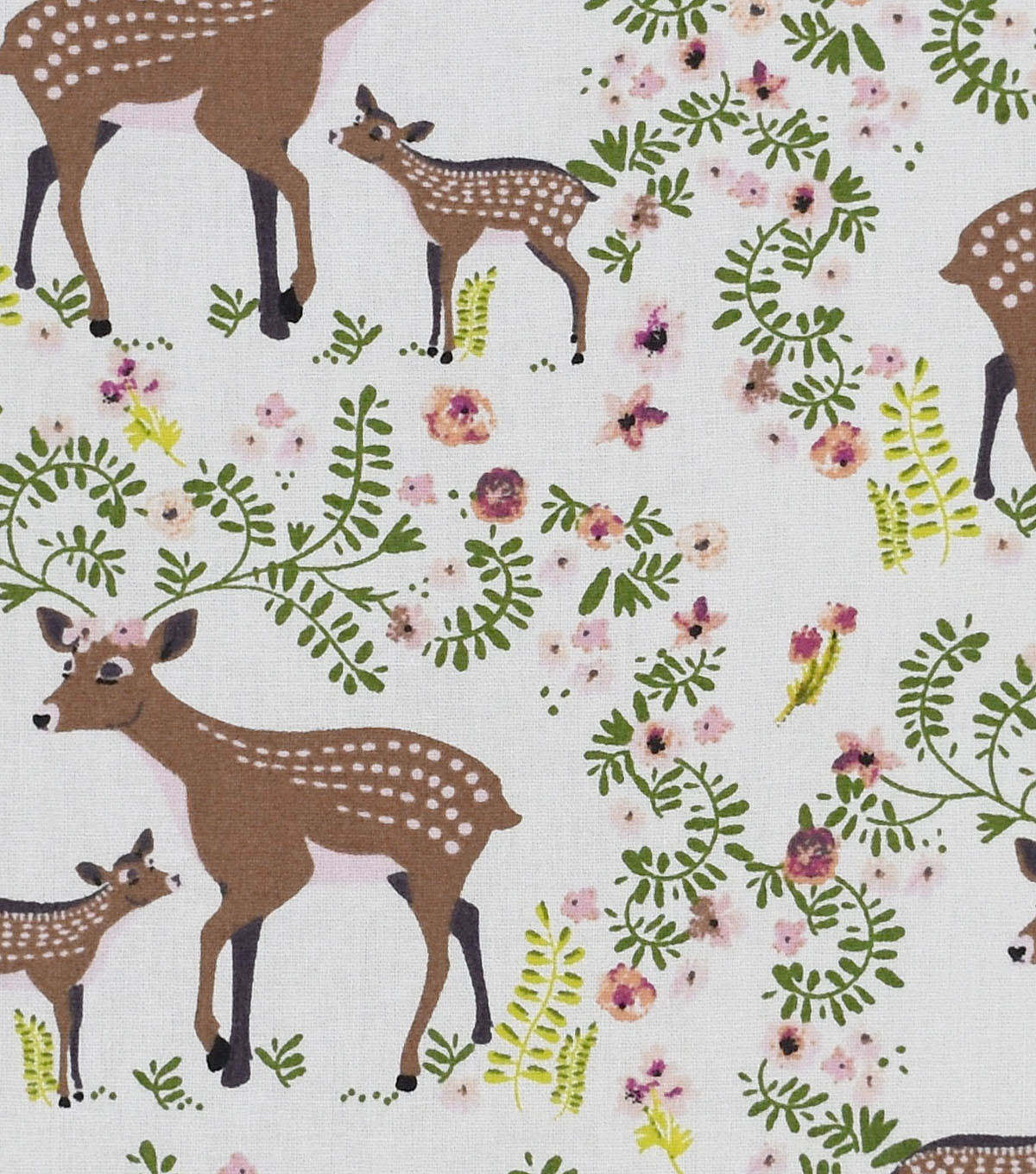 Nursery Cotton Fabric 43\u0022-Deer