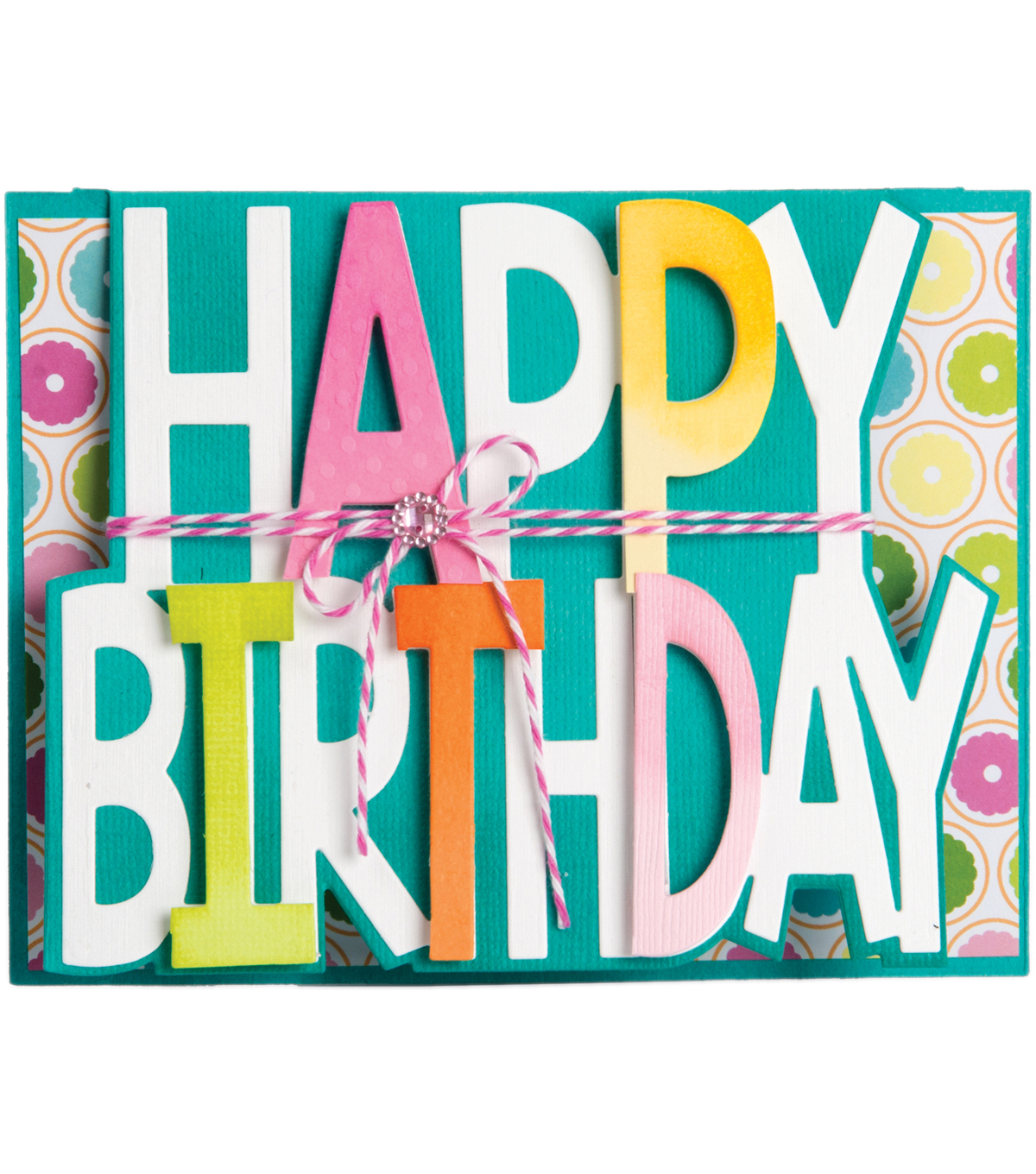 Sizzix Framelits 3 Pack Dies-Happy Birthday Drop-Ins Card