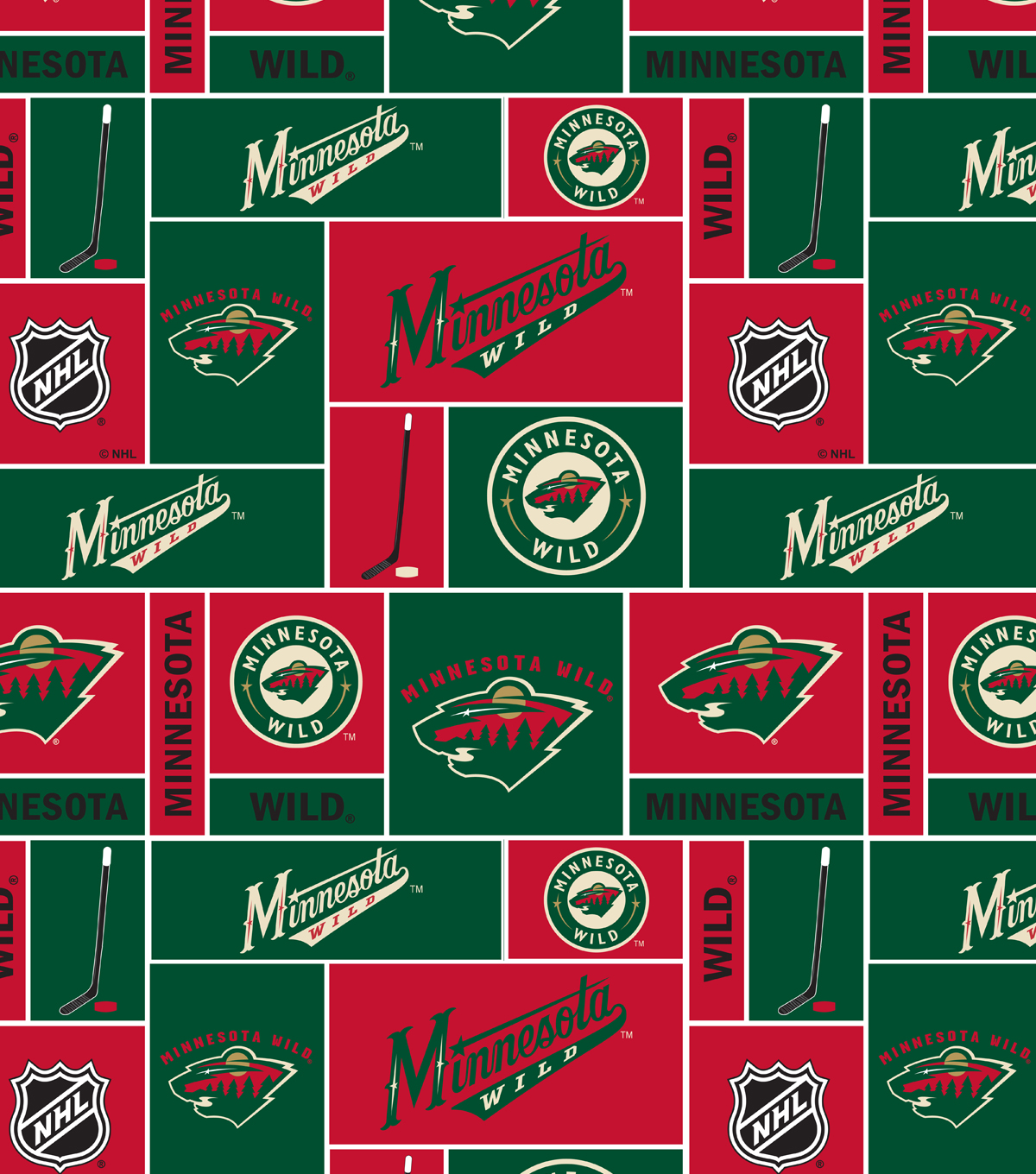 Minnesota Wild Cotton Fabric -Block