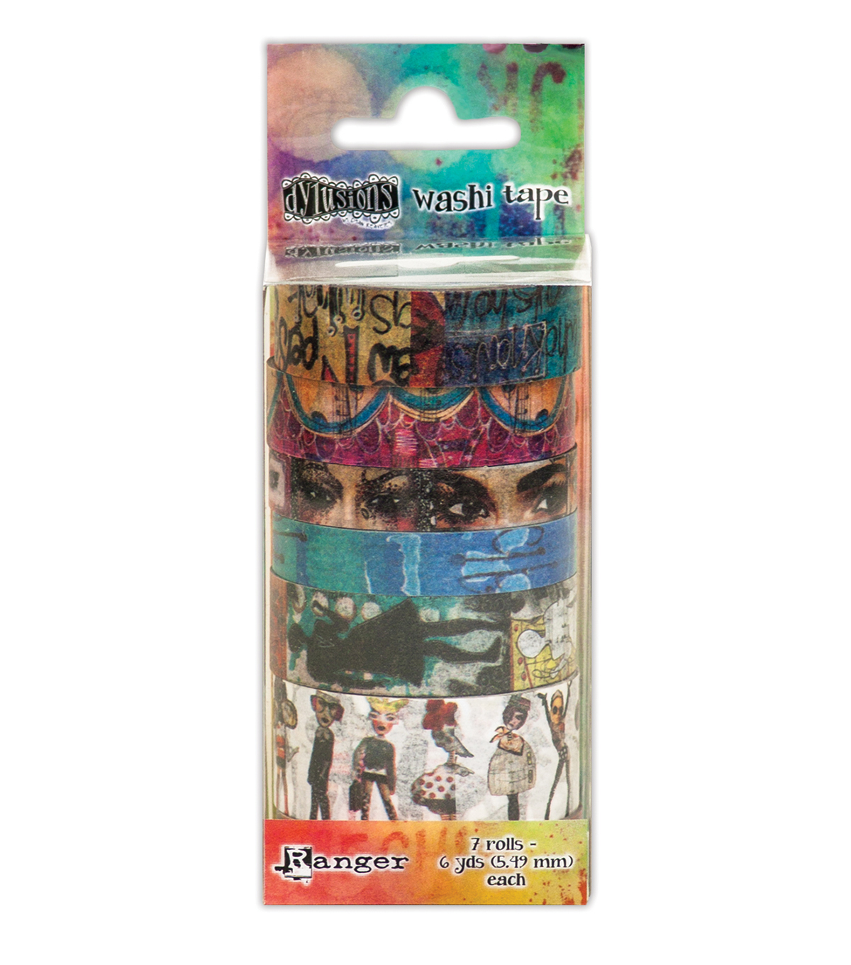 Ranger Dyan Reaveley\u0027s Dylusions 7 pk 6 yds Washi Tape Set #2