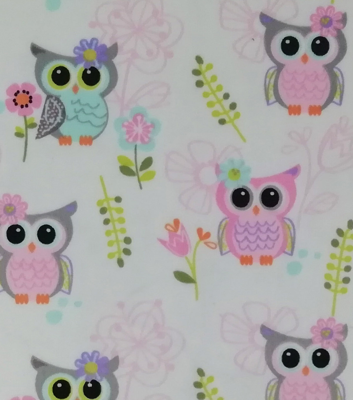 Soft & Comfy Fleece Fabric-Bright Eyes Owls