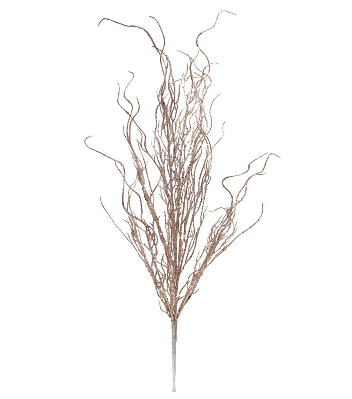 blooming holiday christmas 27u0027u0027 glitter coral bush rose gold