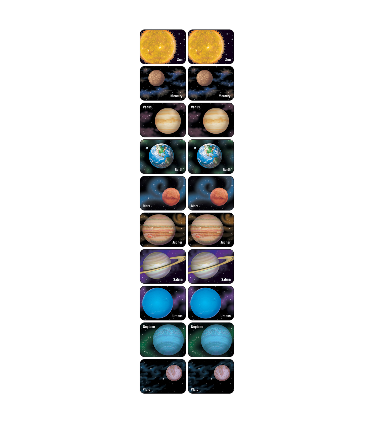 Trend Enterprises Inc. Planets and Sun Applause STICKERS, 100 Per Pack